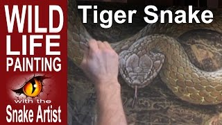 How to Paint a Tiger Snake