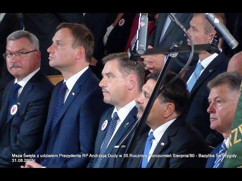 Owacyjne Przywitanie Prezydenta A.Dudy W Kościele Św.Brygidy W Gdańsku - 31.08.15