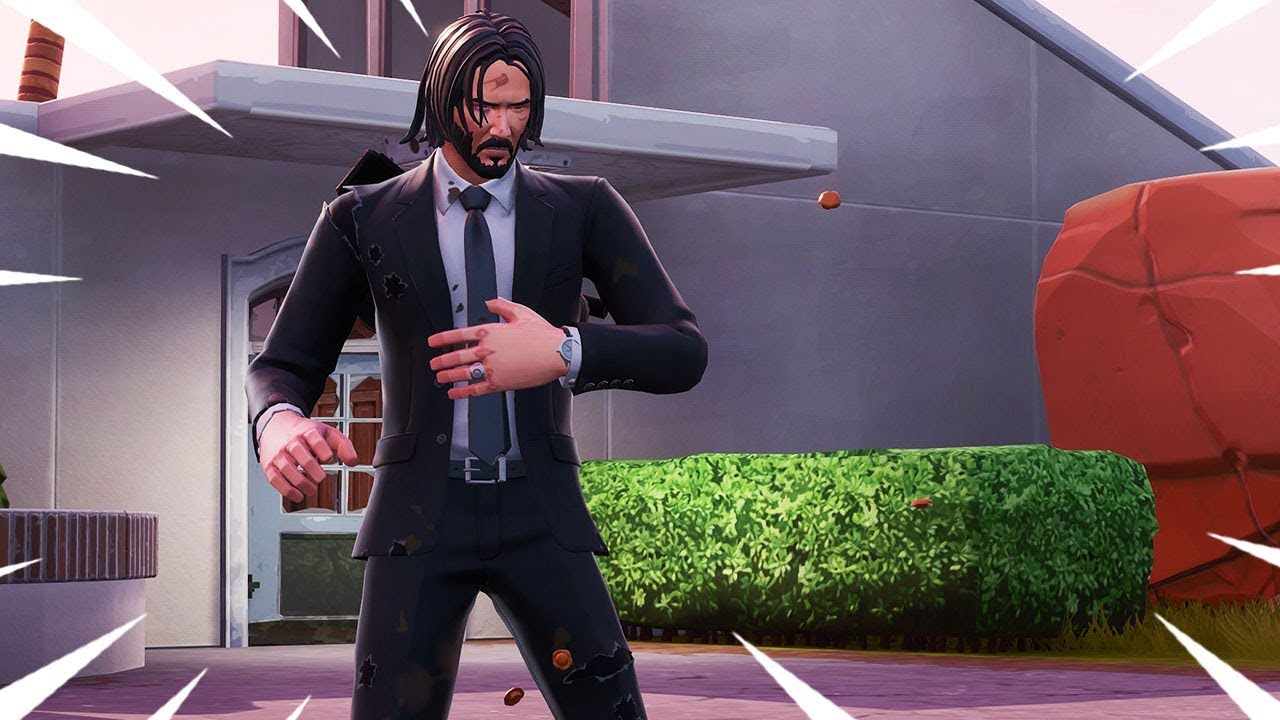The New JOHN WICK Skin Gameplay In Fortnite Battle Royale ...