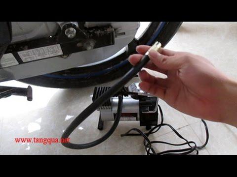 Bơm Xe Máy 12V - Máy Bơm Hơi Mini Bỏ Vừa Cốp Xe