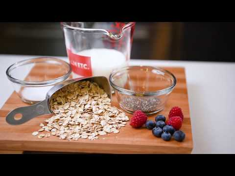 Healthy and easy breakfast recipe for recovery: Overnight oatmeal