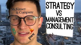 Differences between strategy consulting and management consulting