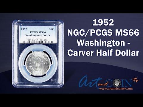 1952 NGC/PCGS MS66 Washington Carver Half At Art And Coin TV