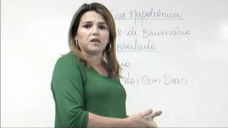 Professora Ana Maria -- História -- Parte 3- O governo Napoleão Bonaparte.