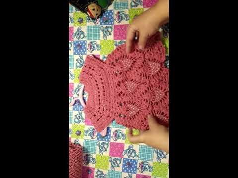 Вязаное платье для девочки крючком. 203 схемы вязания