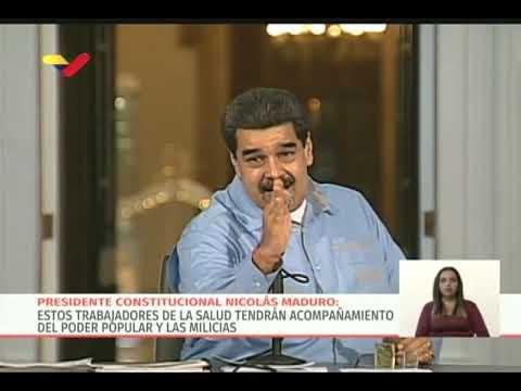 Maduro confirma que dará medio Petro a personal de salud y anima a todos a abrir su wallet