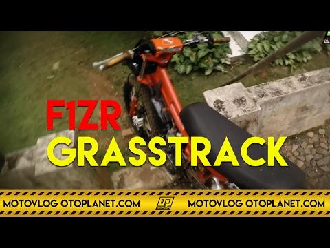 Motovlog #11 - Test Drive Bebek Standar F1zr Grasstrack