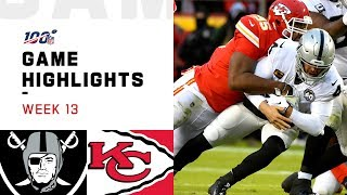 Raiders vs. Chiefs Week 13 Highlights | NFL 2019
