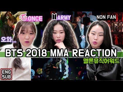 BTS MMA IDOL REACTION 방탄소년단 멜론뮤직어워드 리액션