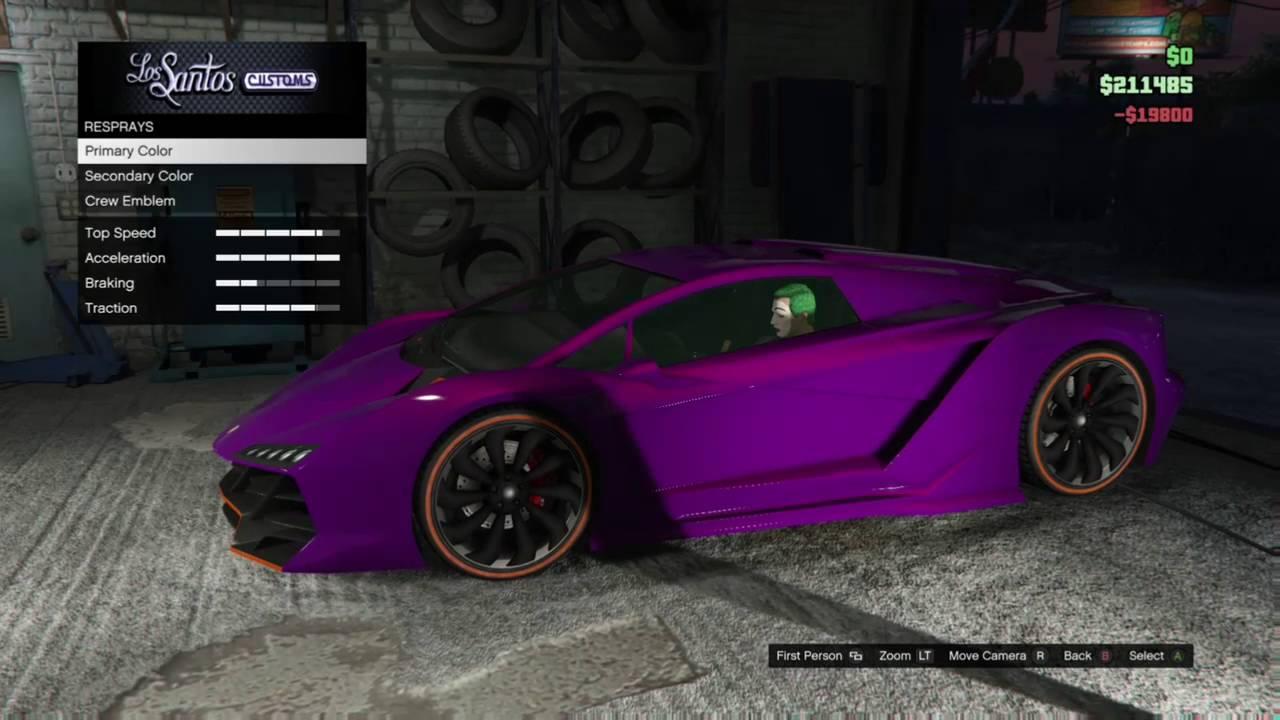 Joker Car Suicide Squad Gta 5 Build Youtube