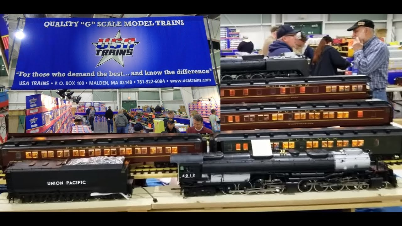 USA Trains FEF & Heavyweight Passenger Cars 2019 G Scale