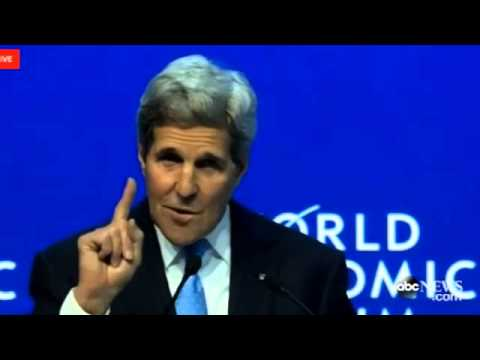 John Kerry Takes a Shot at Bush Over Iraq War at Davos