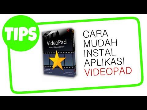 Gimana Cara Instal Aplikasi Videopad? PAKE CRACK!!!!cara gratis.