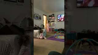 Lucy 'singing' and dancing to Meghan Trainor