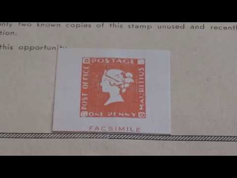1847 Post Office Mauritius & 1851 Hawaii Stamps