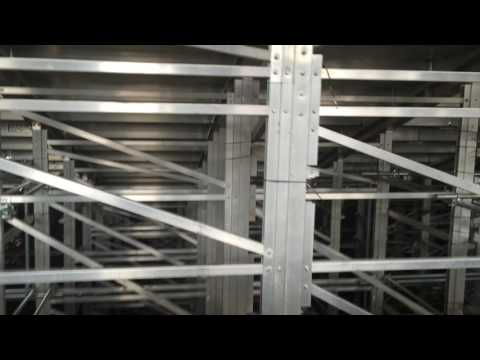 Underneath the East stand at the Olympic Stadium