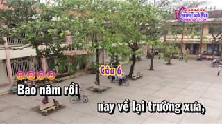 Karaoke vọng cổ NGÔI TRƯỜNG KỶ NIỆM - DÂY KÉP [T/g Hoàng Giang]