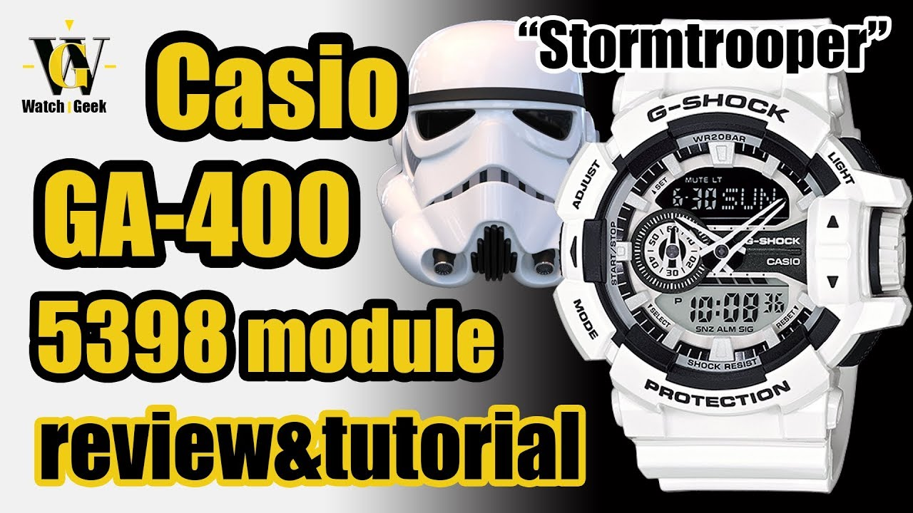size 40 5a2eb 087ec GA 400 G-Shock 5398 module - review & tutorial how to setup and use  EVERYTHING (HR&EN subtitles)