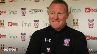 York City 2-0 Stockport County | Steve Watson Post-Match | Emirates FA Cup Fourth Round Qualifying