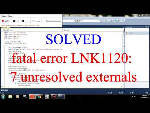 fatal error: LNK1120  unresolved externals (Solved and explained)