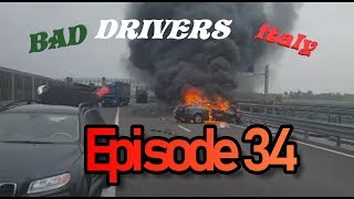 Bad Drivers on Italy Streets // DashCam Episode 34 + Car Crash