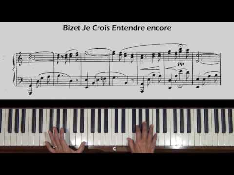 Bizet Je Crois Entendre encore Piano Tutorial