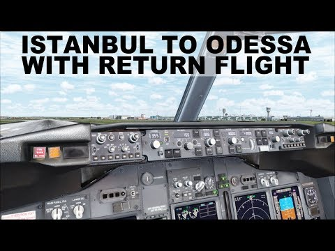 FROM THE FLIGHT DECK BOEING 737 PLANE // ISTANBUL TO ODESSA // AIRLINE FLIGHTS WITH BULL BOSPHORUS