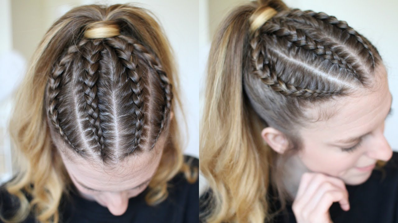 inspired braided ponytail