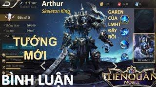 Sự bá đạo của Skeleton King Arthur - tướng mới giống Garen LMHT - Liên quân mobile
