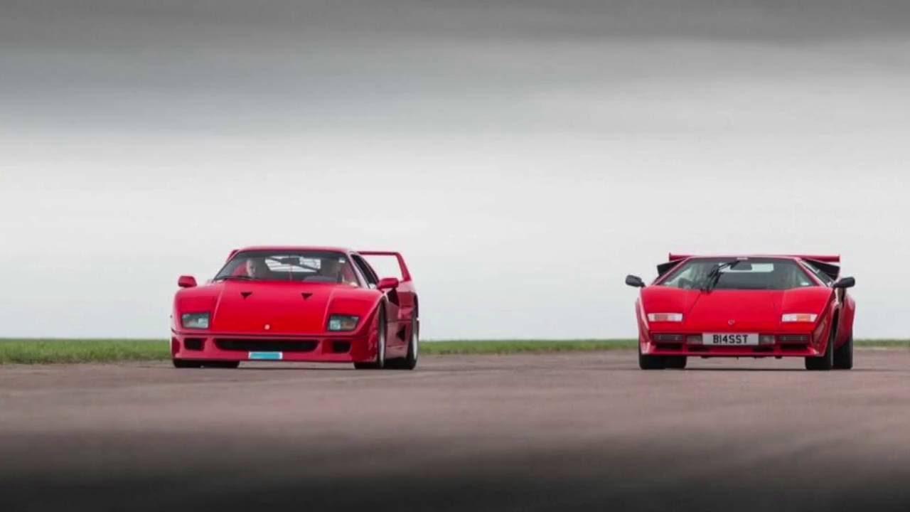 Vmax200 Ferrari F40 V Lamborghini Countach 80s Special Youtube