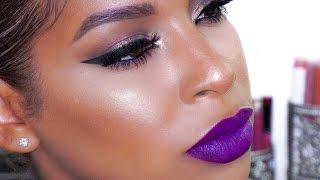 Bold Makeup Look | Green smokey, Purple lip | BeautybyLee