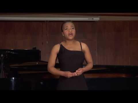 Palesa Malieloa, Soprano:Ngenani  (Zulu Song)  by  SBP Mnomiya