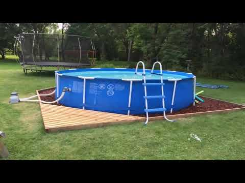 Intex Above Ground Pool Deck Ideas