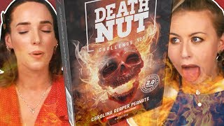 Irish People Try The Death Nut Challenge (13 Million Scoville!)
