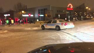 #LAVAL #MONTREAL #POLICE #DRIFTING fun in #SNOWSTORM Laval snowstorm #CANADA #QUEBEC #FORD