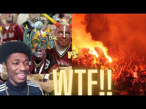 American Football vs European Football Fans Reaction!!!