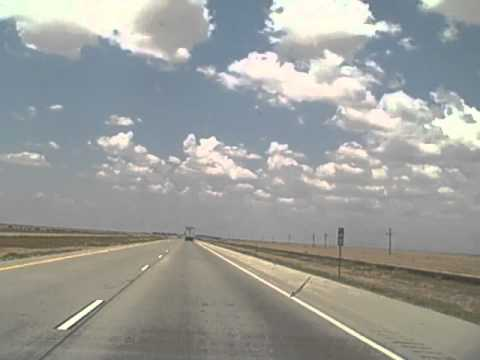 Me Driving In The Texas Panhandle