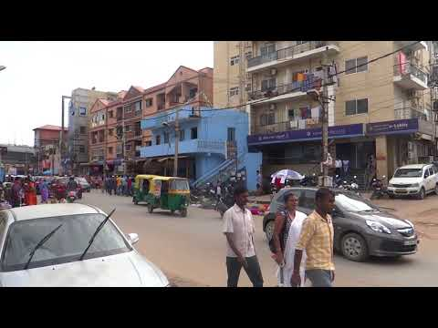WALKABOUT IN BELLANDUR VILLAGE, BANGALORE INDIA crazy roads and drivers