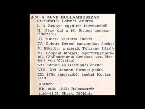 A zene hullámhosszán. Újratöltve. Szerkesztő: Lőrincz Andrea. 1974.04.16. Petőfi rádió. 10.00-11.52.