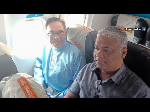 No private jet today, Anwar opts for commercial airline
