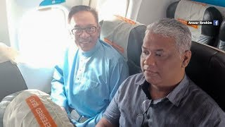 No private jet today, Anwar opts for commercial airline thumbnail