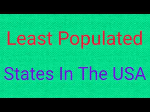 Least Populated US States
