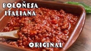 Como hacer Salsa Boloñesa Italiana Casera | Receta Autentica | Espaguetis | Recetas Italianas