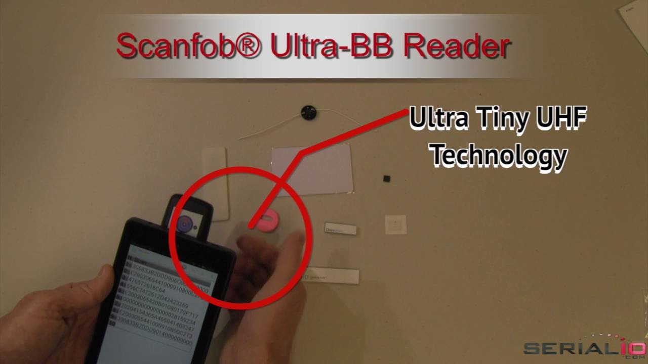 Scanfob® Tiny UHF Reader-Writer, Barcode Scanner, Bluetooth Prox-iClass NFC  on 6-inch Fire Tablet