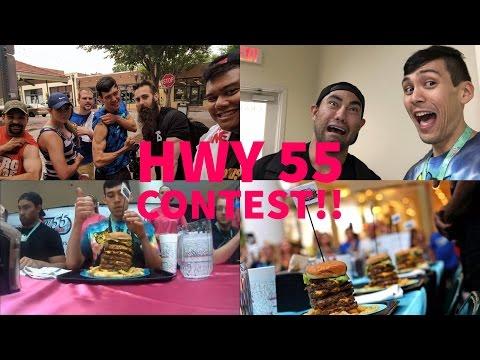 Hwy55 World Hamburger Eating Championship!!! 55oz Burger Eaten in 2:51(Faster than Furious Pete)!!!