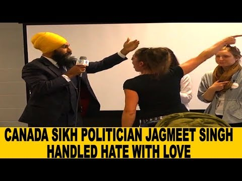 Canada Sikh politician Jagmeet Singh Handles Racist Attack | FULL VIDEO