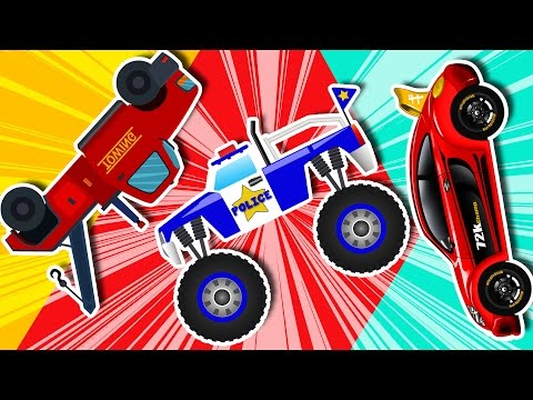 kids Cars And Trucks - learn Tansport - Compilation - kids video - kids channel - 동영상