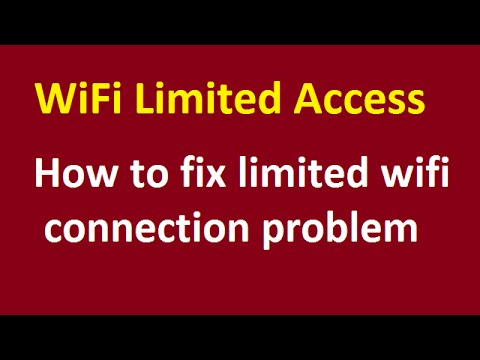 How to fix limited wifi connection problem - YouTube