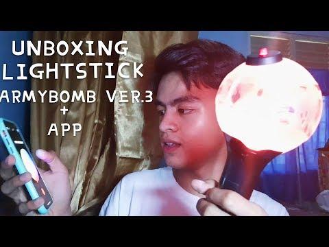 [unboxing]-lightstick-bts-armybomb-ver.3-+-app