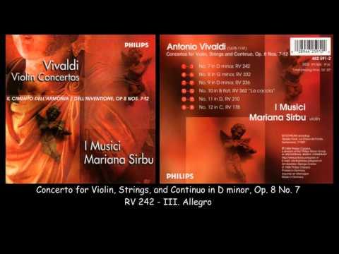 Vivaldi - Concertos No. 7-12 Op. 8 - I Musici - Mariana Sirbu - 1997